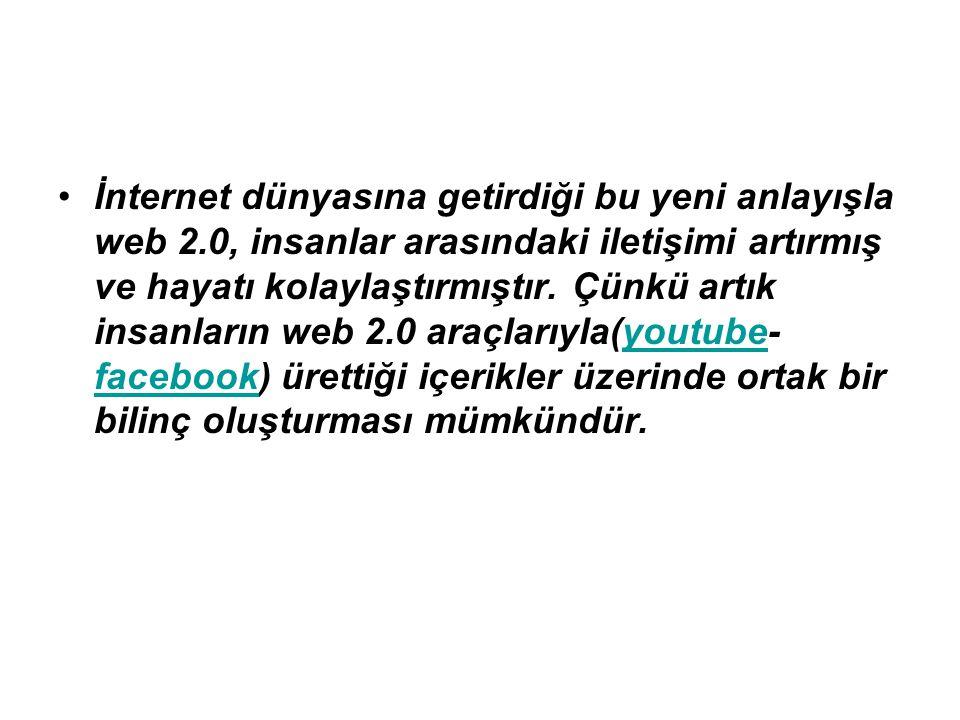 WEB 2.0 EĞİTİMDE NASIL KULLANILABİLİR.