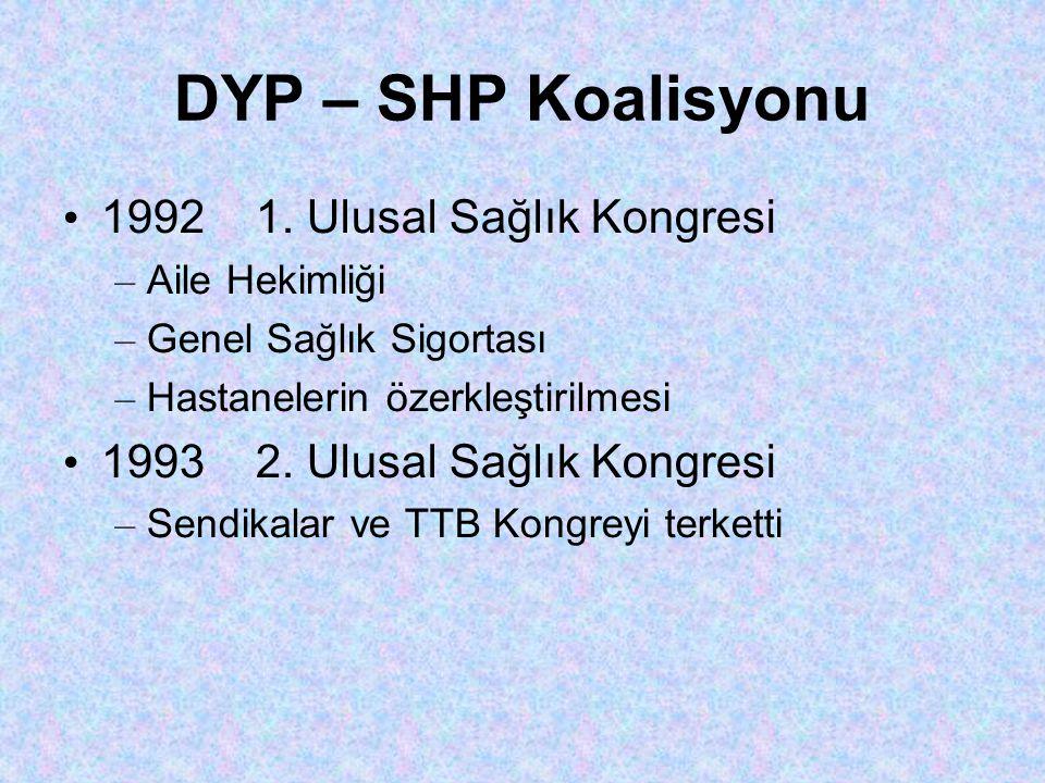 DYP – SHP Koalisyonu • 1992 1.