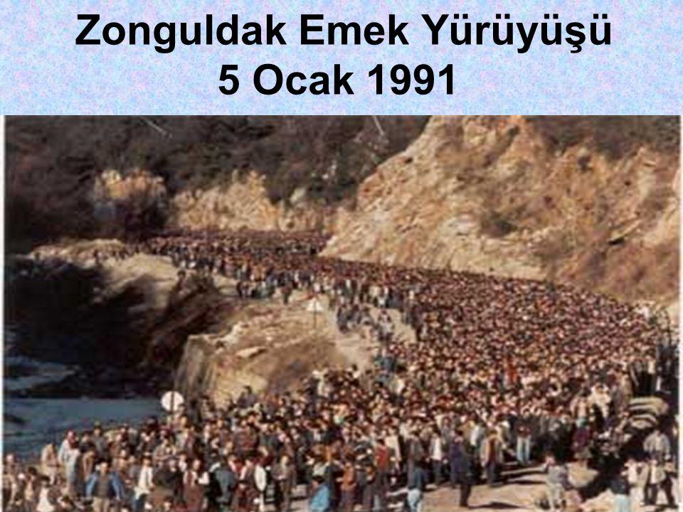 Zonguldak Emek Yürüyüşü 5 Ocak 1991