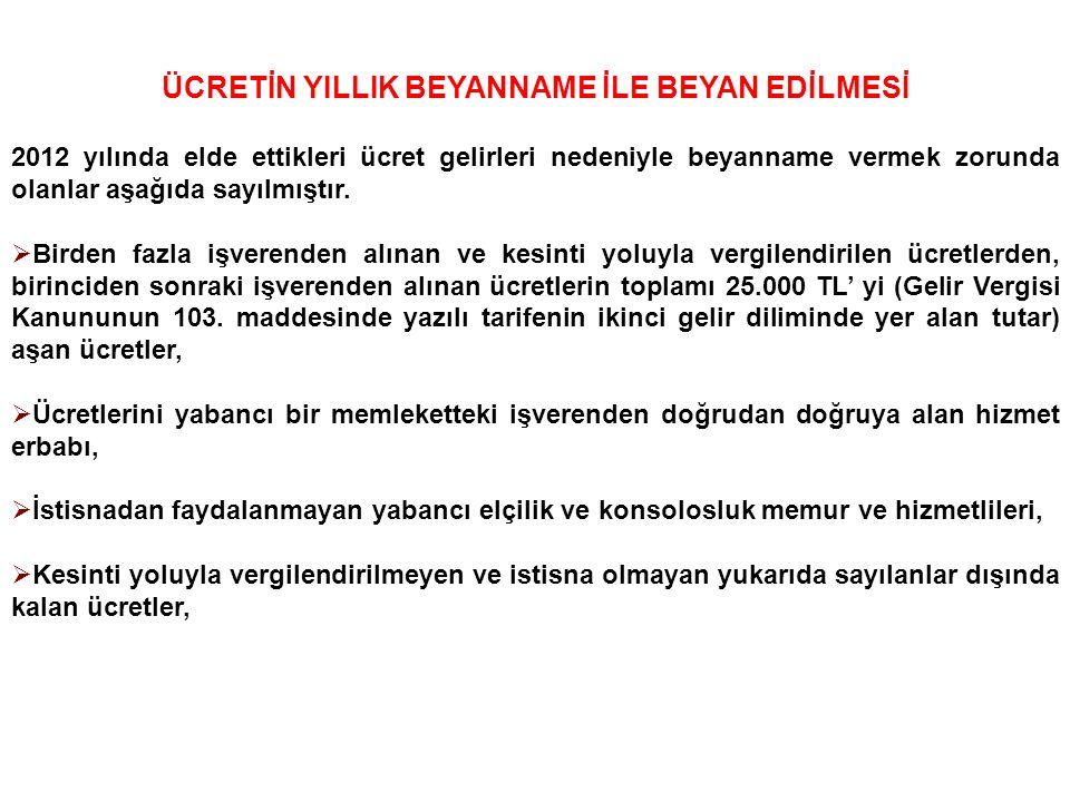 18 MEVDUAT FAİZLERİ 01/01/2006 tarihinden itibaren Yabancı Para / Türk Lirası Mevduat hesaplarından elde edilen faiz gelirleri, söz konusu mevduat hesabı hangi tarihte açılmış olursa olsun, % 15 oranında tevkifata tabi olup, bu gelirler için yıllık beyanname verilmeyecektir.