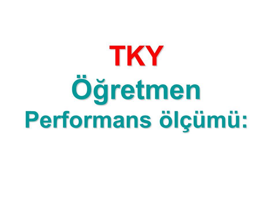 TKY Öğretmen Performans ölçümü: