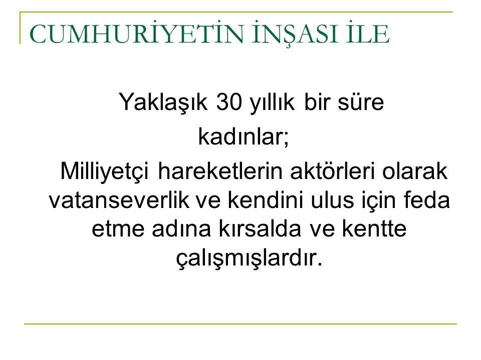  Türkiye'de toplumsal yapıyı tanımlayan az gelişmişlik olgusu en belirgin biçimde eğitim alanındaki kadın erkek eşitsizliğinde göze çarpmaktadır.