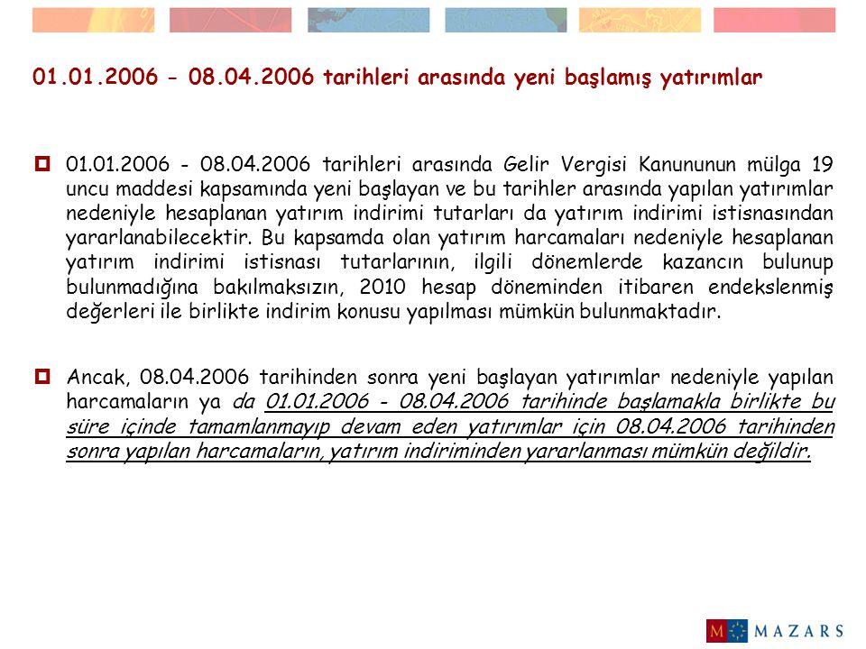 2010 hesap döneminin I.ve II.