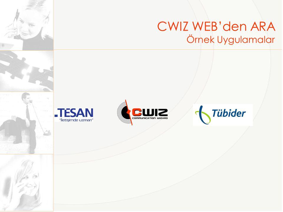 CWIZ WEB'den ARA Neler Yapabilirsiniz.