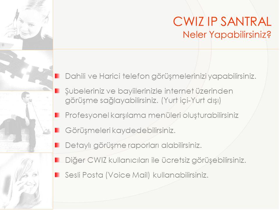 CWIZ IP SANTRAL Neler Yapabilirsiniz.AYRICA Yurt dışından numara alabilirsiniz.