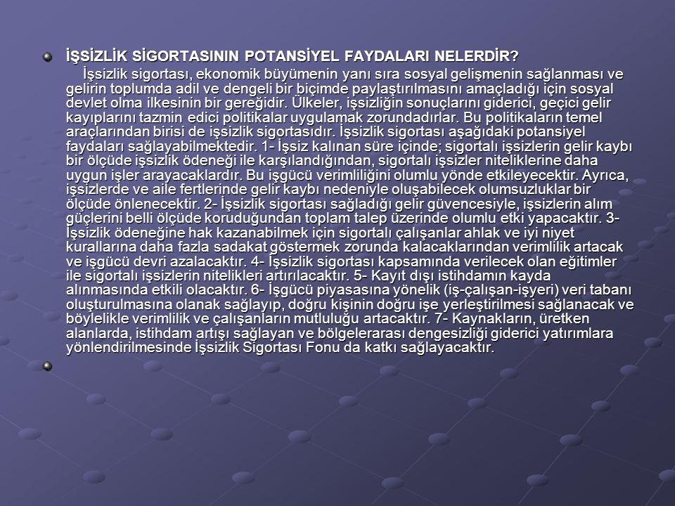 KİMLER İŞSİZLİK SİGORTASI KAPSAMINDADIR.