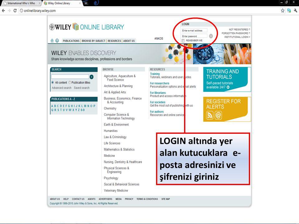 Adınıza açılan sayfayı kontrol ediniz, şimdi kayıtlı kullanıcı (Registered User) olarak platformu kullanabilirsiniz