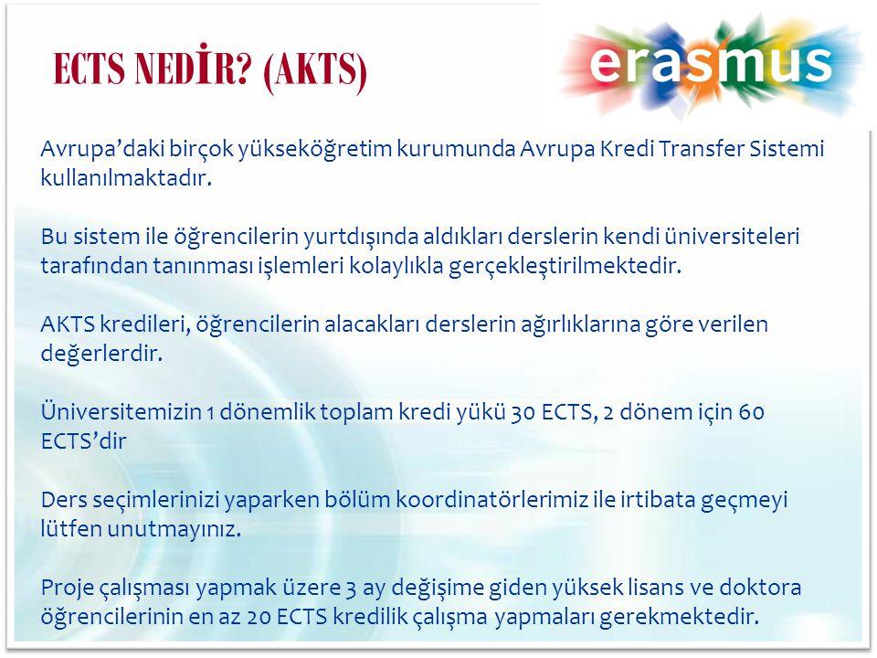 Avrupa'daki birçok yükseköğretim kurumunda Avrupa Kredi Transfer Sistemi kullanılmaktadır. Bu sistem ile öğrencilerin yurtdışında aldıkları derslerin