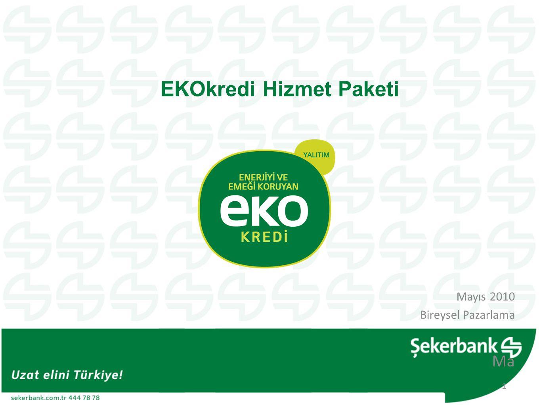 EKOkredi: Enerjinin daha verimli kullanılmasına yönelik giderlerin finansmanı için bireysel bankacılık müşterilerine kullandırılan kredi türleridir.
