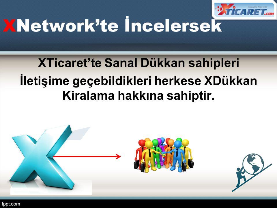 XNetwork'te İncelersek XTicaret'te Sanal Dükkan sahipleri İletişime geçebildikleri herkese XDükkan Kiralama hakkına sahiptir.