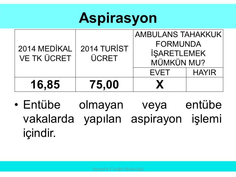 Normal Doğum Nevşehir İl Sağlık Müdürlüğü 2014 MEDİKAL VE TK ÜCRET 2014 TURİST ÜCRET AMBULANS TAHAKKUK FORMUNDA İŞARETLEMEK MÜMKÜN MU.