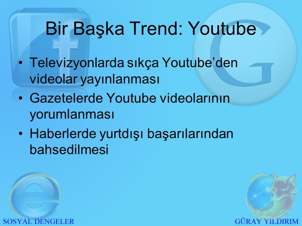 Günümüz Trendi: Facebook •2008 yaz ayında Türkçe olması(-) •Bir anda medyada haberlerin çıkması(+) •Türk kullanıcı sayısının katlanması •Kullanıcı odaklı Web 2.0 ve 3.0'ı doğru kullanması.