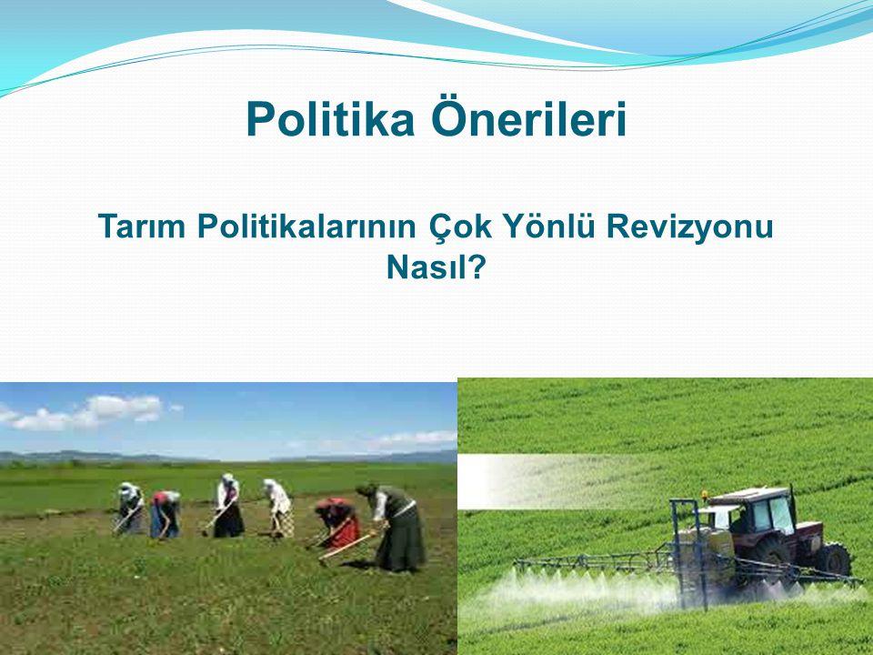 Politika Önerileri Tarım Politikalarının Çok Yönlü Revizyonu Nasıl? 26