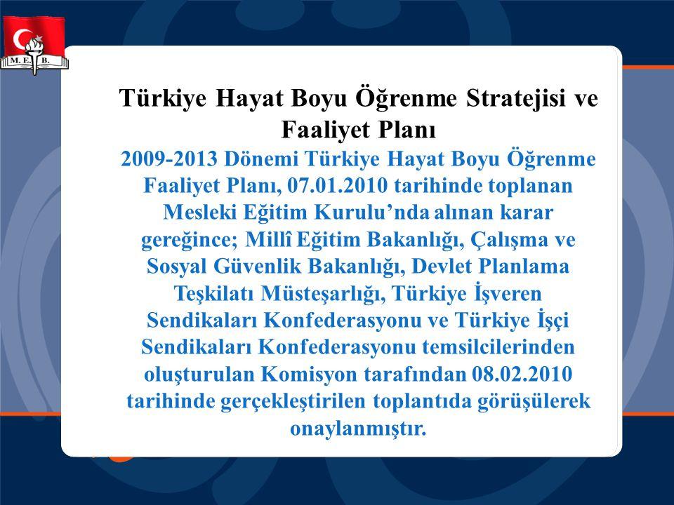 Türkiye Hayat Boyu Öğrenme Stratejisi ve Faaliyet Planı 2009-2013 Dönemi Türkiye Hayat Boyu Öğrenme Faaliyet Planı, 07.01.2010 tarihinde toplanan Mesl