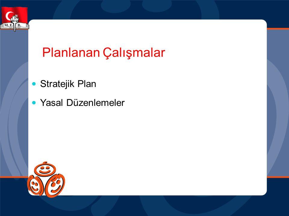 Planlanan Çalışmalar  Stratejik Plan  Yasal Düzenlemeler
