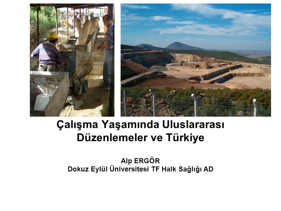 Çalışma Yaşamında Uluslararası Düzenlemeler ve Türkiye Alp ERGÖR Dokuz Eylül Üniversitesi TF Halk Sağlığı AD