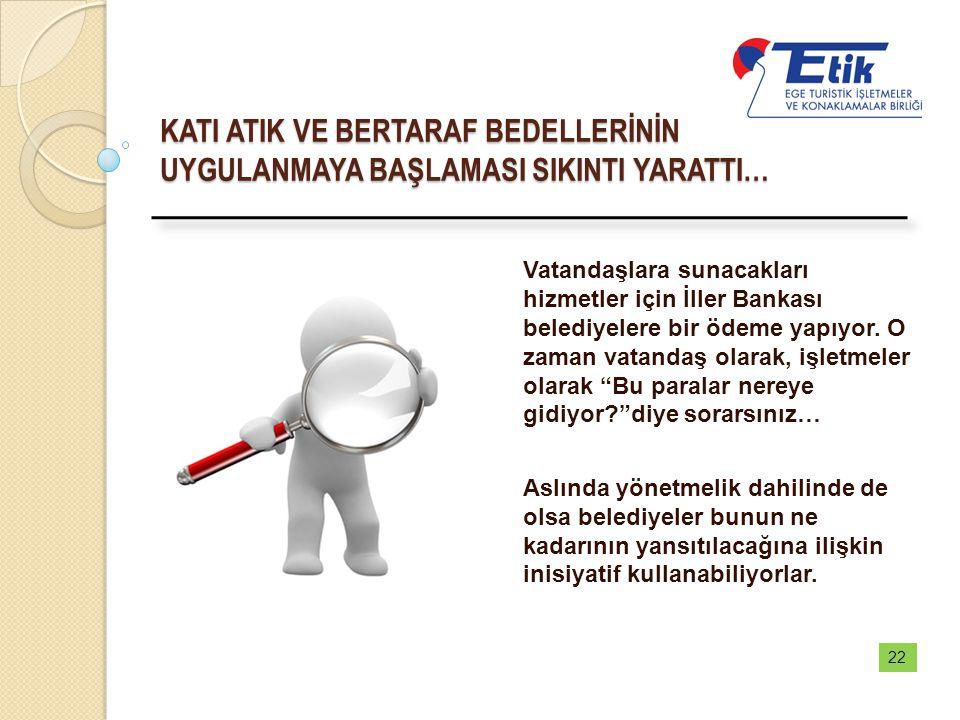 KATI ATIK VE BERTARAF BEDELLERİNİN UYGULANMAYA BAŞLAMASI SIKINTI YARATTI… Vatandaşlara sunacakları hizmetler için İller Bankası belediyelere bir ödeme