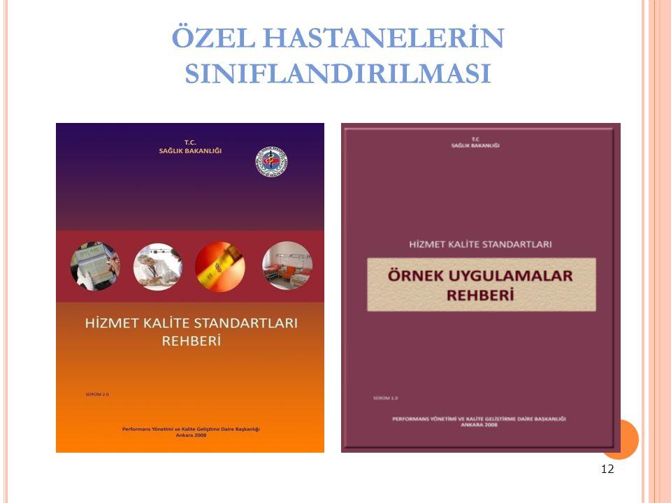ÖZEL HASTANELERİN SINIFLANDIRILMASI 12