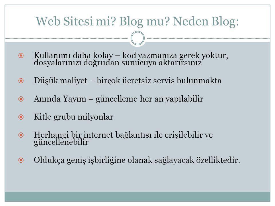 Web Sitesi mi.Blog mu.