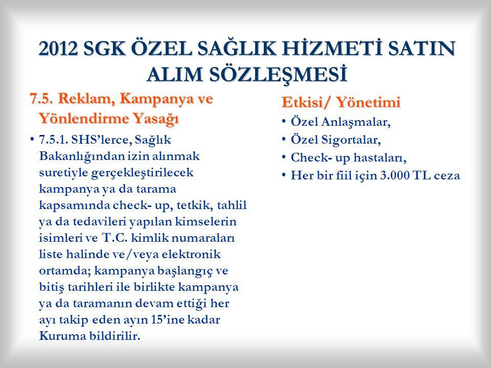 2012 SGK ÖZEL SAĞLIK HİZMETİ SATIN ALIM SÖZLEŞMESİ 7.6.