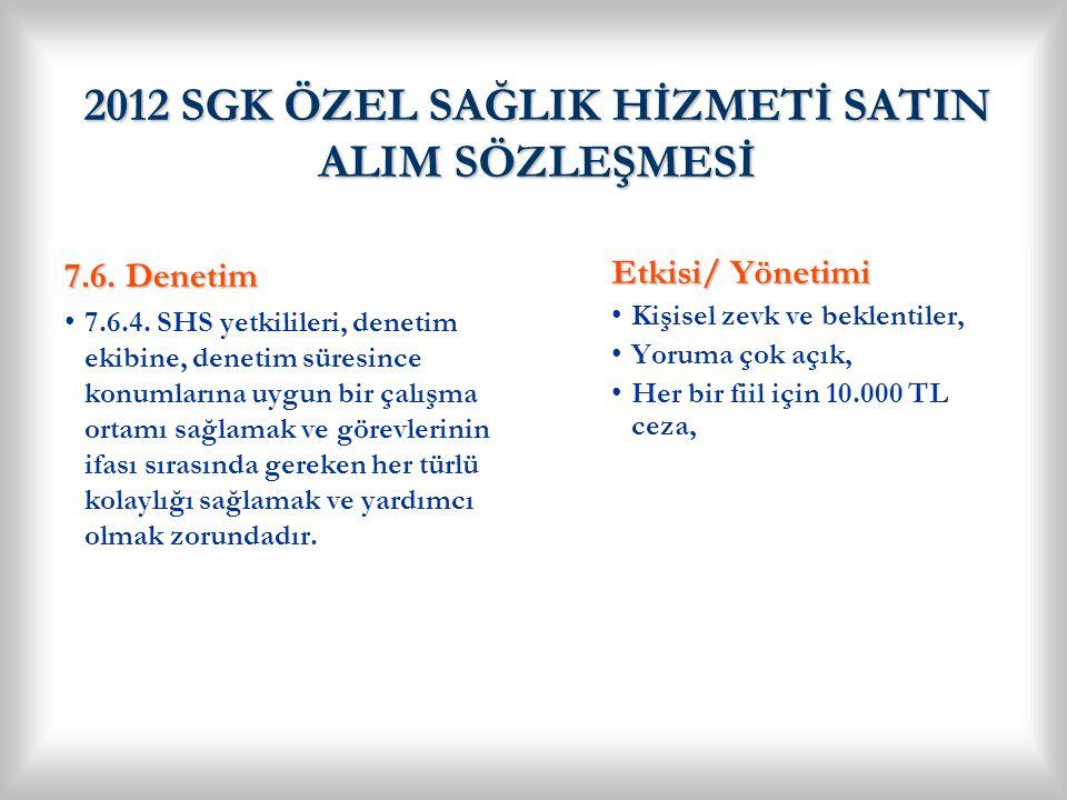 2012 SGK ÖZEL SAĞLIK HİZMETİ SATIN ALIM SÖZLEŞMESİ 7.8.