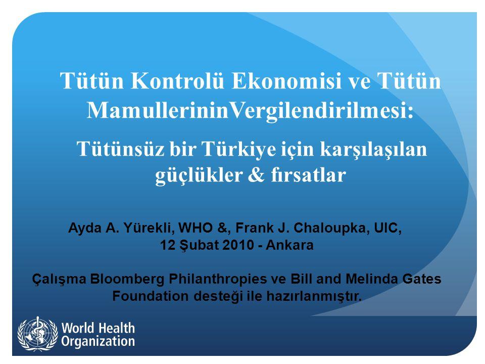 Sigara Vergileri ve Fiyatları 2003-2010 Kaynak: TAPDK; MoF; Yürekli, et al., 2010