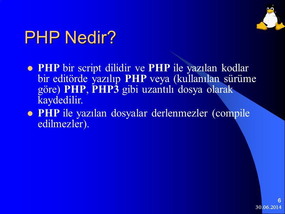 30.06.2014 7 Linux'da PHP  Kurulumda seçildiği takdirde kurulacaktır.