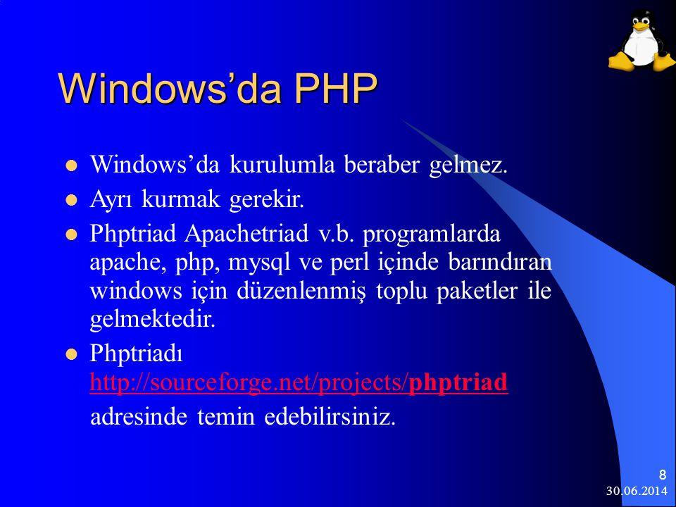 30.06.2014 29 Gftp,FileZilla,WSFTP, veya CuteFTP programlarından biri ile stu.inonu.edu.tr bulunan web alanımıza bağlanarak PHP-Nuke-7.5 altında html klasoru içeriği web alanımızdaki public_html klasoru içine atılmalıdır.