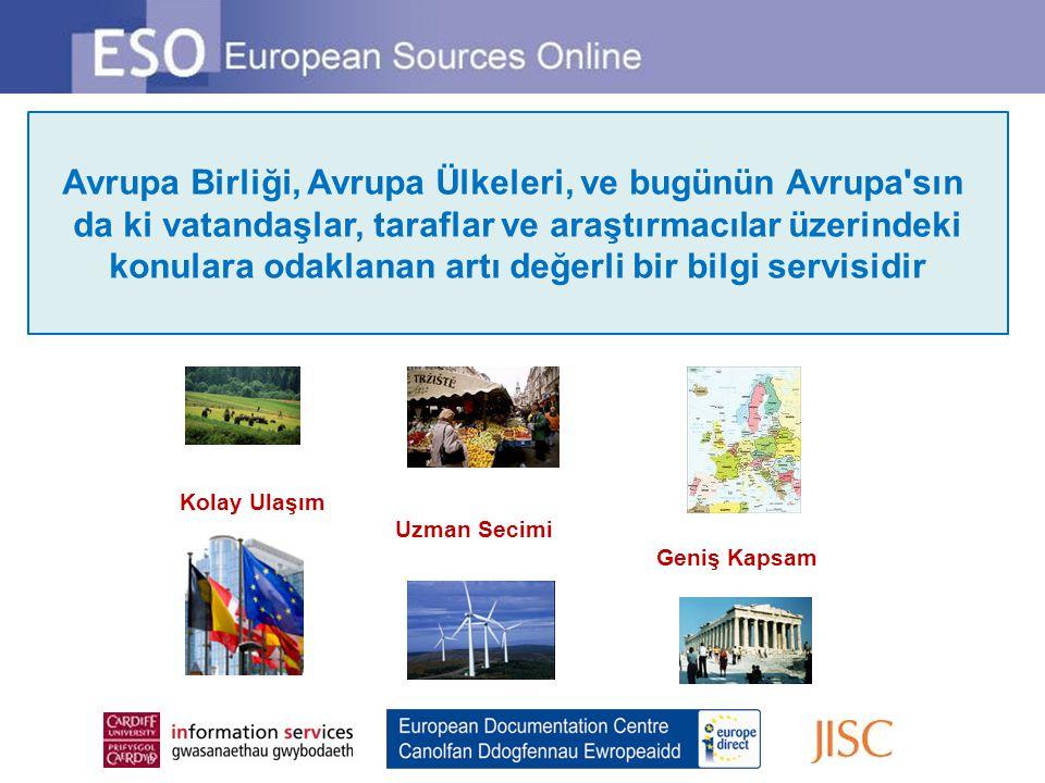 Avrupa Birliği, Avrupa Ülkeleri, ve bugünün Avrupa'sın da ki vatandaşlar, taraflar ve araştırmacılar üzerindeki konulara odaklanan artı değerli bir bi