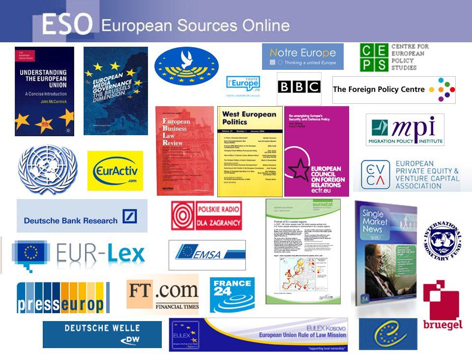 ESO' nun diğer özellikleri Avrupa' da ki gelişmeleri takip eder Günlük alınan bilgilere göre güncellenir Anahtar Kaynak en önemli kaynakları göstermektedir.