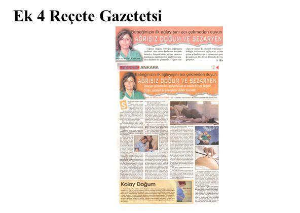 Ek 4 Reçete Gazetetsi