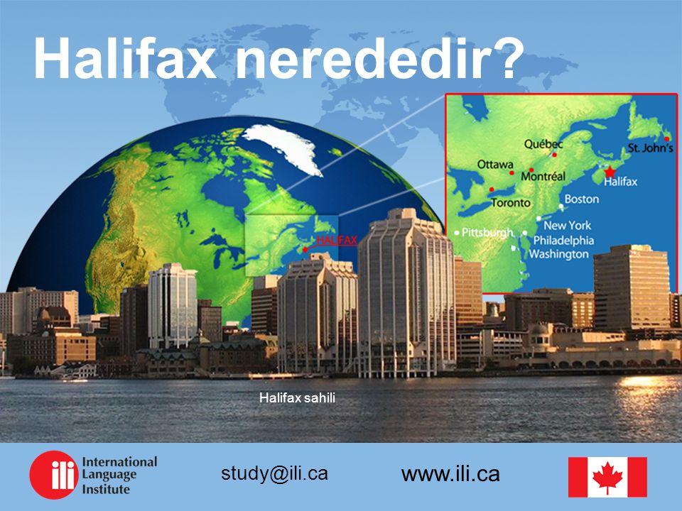 www.ili.ca study@ili.ca Halifax nerededir Halifax sahili