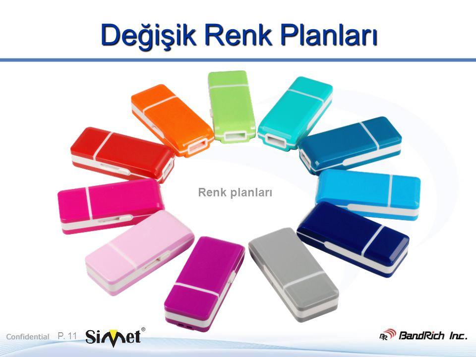 P. 11 Değişik Renk Planları Renk planları