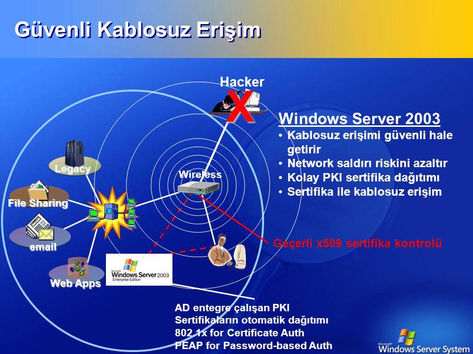 Wireless Teknolojiler  Tehlike  Bilgi kaçağı  Güvenlik açığı  Mevcut Durum  $900 vererek 30km civarında mesafeye çıkabilir  İçindeki DHCP Server mevcut ağda ciddi problemler yaratabilir  Kullanım şart ise  Erişim kontrolü için 802.1X  WEP güvensiz.