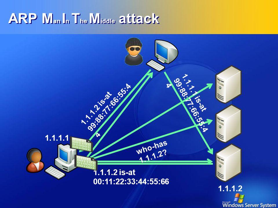 ARP – Zincirdeki En Zayıf Halka  ARP güvenlik hiç düşünülmeden geliştirilmiş bir protokoldür  TCP/IP'nin en temel öğesi  Tehlikeler.