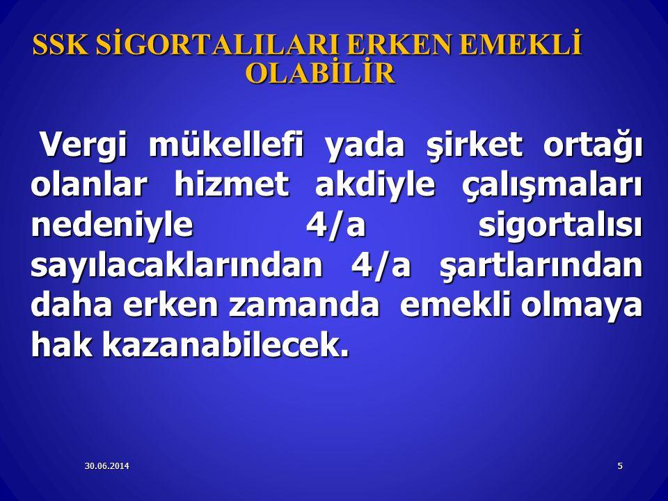30.06.2014m16 TOPLULUK SİGORTASINA TABİ İŞÇİLERİN İSTEĞE BAĞLI SİGORTASI 4/A KAPSAMINDA Ülkemiz ile sosyal güvenlik sözleşmesi olmayan ülkelerde iş üstlenen işverenlerce yurt dışındaki işyerlerinde çalıştırılmak üzere götürülen Türk işçileri 4/a bendi kapsamında sigortalı.