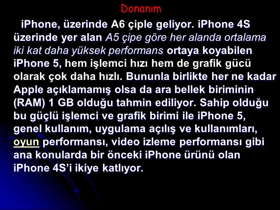 Donanım iPhone, üzerinde le geliyor.