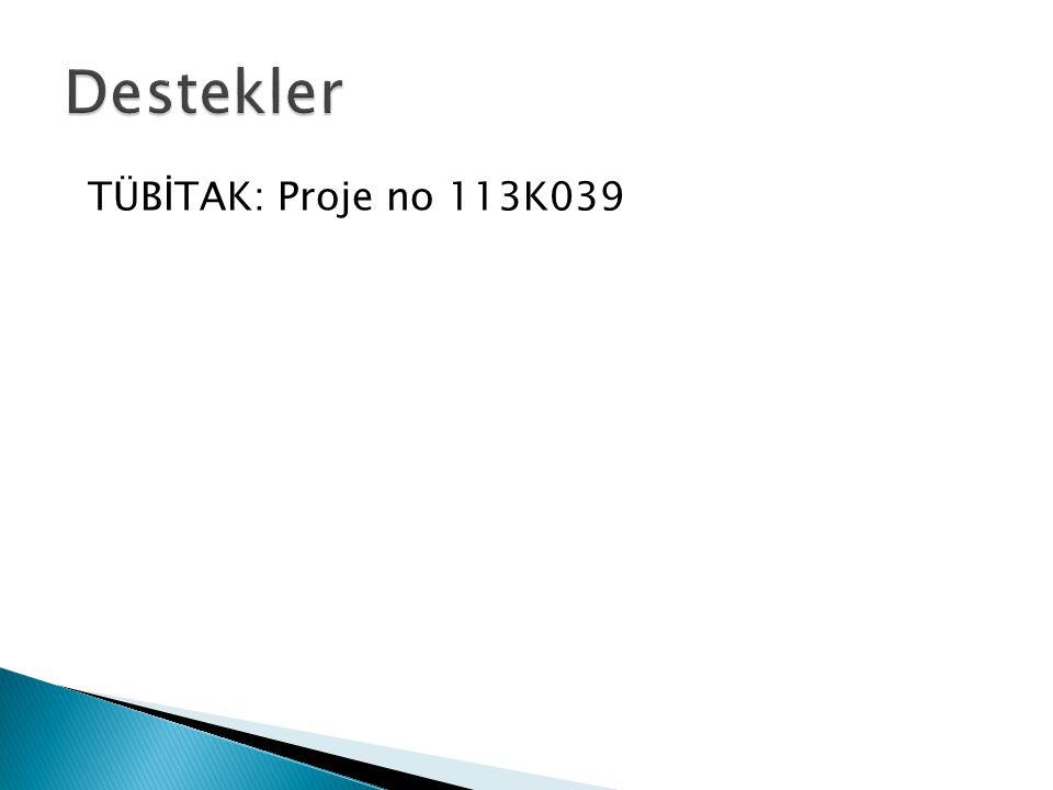 TÜBİTAK: Proje no 113K039