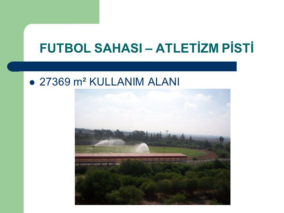  27369 m² KULLANIM ALANI FUTBOL SAHASI – ATLETİZM PİSTİ