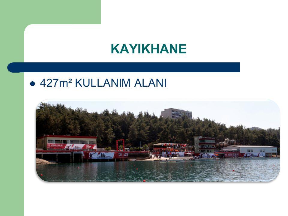  427m² KULLANIM ALANI KAYIKHANE