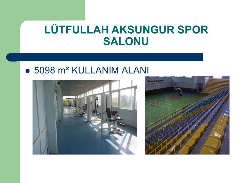 1.Spor salonu içerisinde müsabaka salonu, antrenman salonu, masatenisi salonu ve kondisyon merkezi bulunmaktadır.