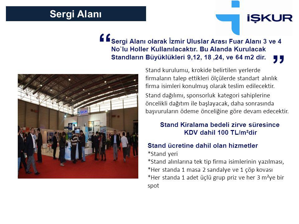 Sergi Alanı Sergi Alanı olarak İzmir Uluslar Arası Fuar Alanı 3 ve 4 No`lu Holler Kullanılacaktır.