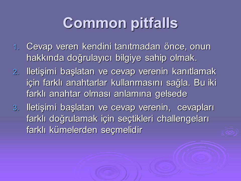 Common pitfalls 1.