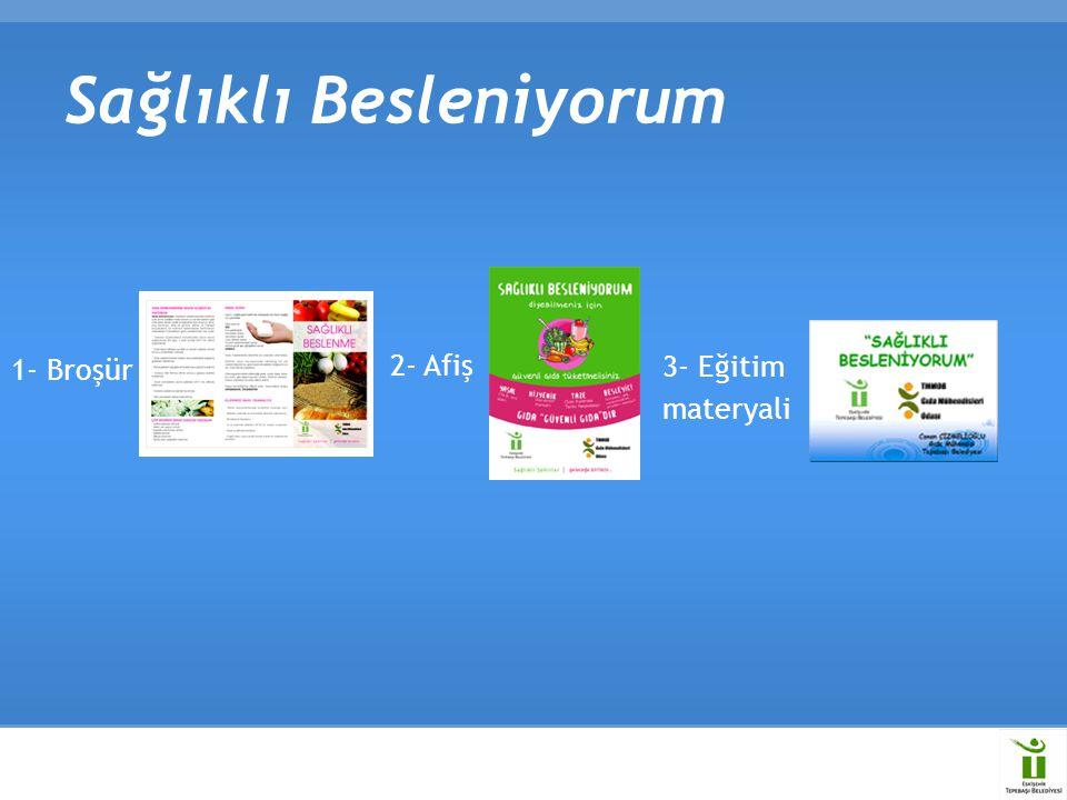 Sağlıklı Besleniyorum 1- Broşür 2- Afiş 3- Eğitim materyali