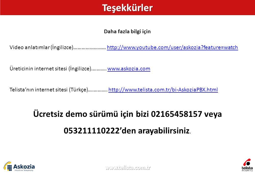 Daha fazla bilgi için Video anlatımlar (İngilizce)…………………… http://www.youtube.com/user/askozia?feature=watchhttp://www.youtube.com/user/askozia?feature=watch Üreticinin internet sitesi (İngilizce).……….