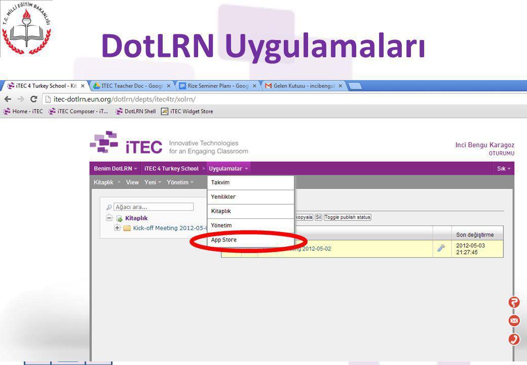 DotLRN Uygulamaları ITEC - Designing The Future Classroom11