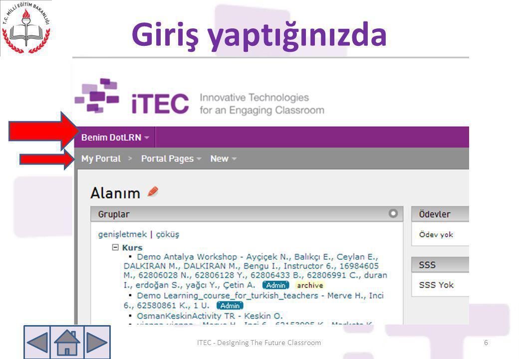 Giriş yaptığınızda ITEC - Designing The Future Classroom6