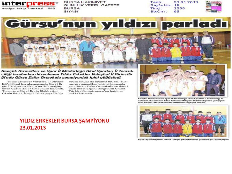 A YILDIZ ERKEKLER BURSA ŞAMPİYONU 23.01.2013