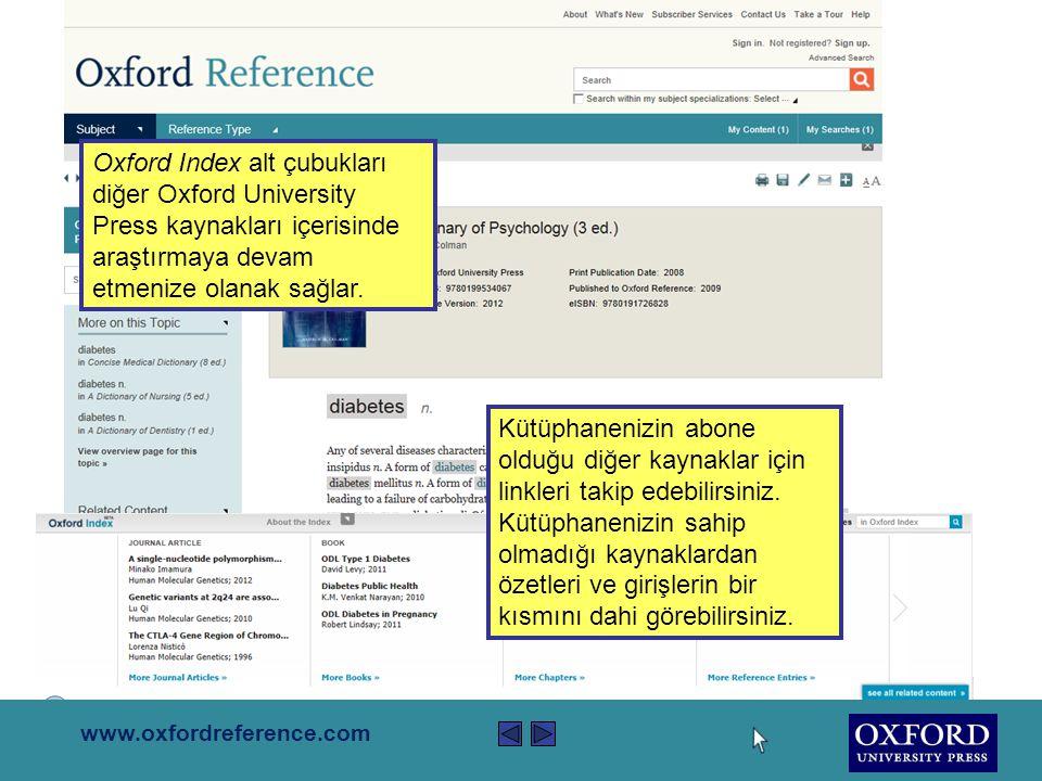 www.oxfordreference.com Sağ yukarıdaki ikonlar çıktı almanıza, kaydetmenize, alıntı yapmanıza, e-posta olarak göndermenize ve sosyal medya sitelerinde paylaşmanıza olanak sağlayacaktır.