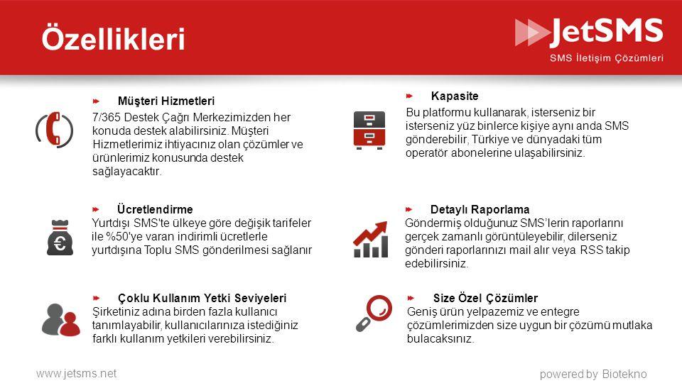 www.jetsms.net powered by Biotekno Hangi Şirketler İçin Uygundur.